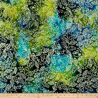 Leaf Batik Blue/Green
