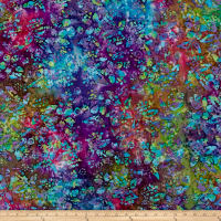 Floral Batik Purple/Teal/Green/Blue