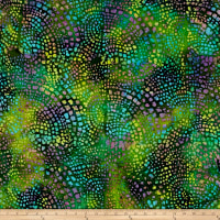 Dots Mozaic Batik Green Multi