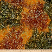 Dots Mozaic Batik Orange/Olive
