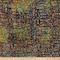 Random Geo Batik Brown/Green/Turquoise