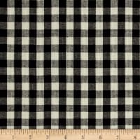 "Yarn Dyed Shirting 1/4 "" Check Black/Cream"
