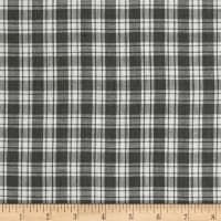 Yarn Dyed Shirting Small Plaid Grey/White