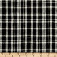 Yarn Dyed Shirting Small Plaid Black/Cream