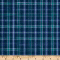 Yarn Dyed Shirting Small Plaid Purple/Teal/Navy