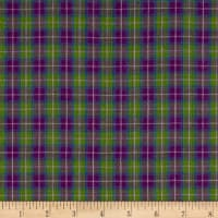 Yarn Dyed Shirting Plaid Purple/Lav/Green/Blue