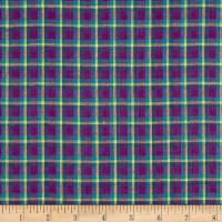 Yarn Dyed Shirting Plaid Purple/Teal/Yllw