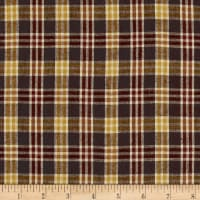 Yarn Dyed Shirting Plaid Brown/Gold/Nat