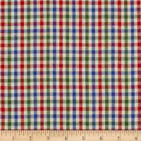 Yarn Dyed Shirting Check Nat/Blue/Green/Red