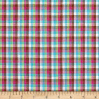 Yarn Dyed Shirting Check White/Blue/Pink/Brown