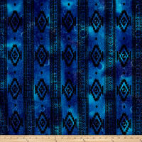 Batik Navajo Stripe Blue/Purple