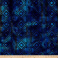 Batik Wide Stripe Blue/Purple