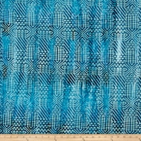Block Patch Batik Blue/Green/Purple