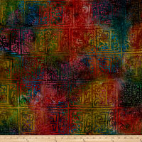 Block Patch Batik Bright Multi