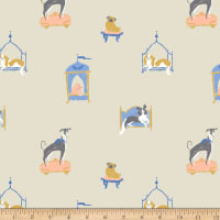 Dear Stella Royal Picnic Lounging Pups Camel