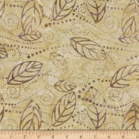 Wilmington Batiks Floating Leaves Tan/Gray