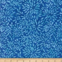 Wilmington Batiks Packed Petals Blue