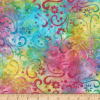 Wilmington Batiks Floral Patchwork Multi
