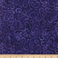 Wilmington Batiks Floral Patchwork Dark Purple