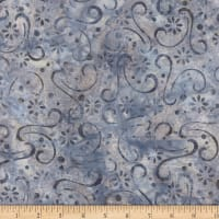 Wilmington Batiks Floral Patchwork Light Gray