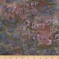 Wilmington Batiks Twirling Leaves Gray/Coral