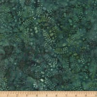 Wilmington Batiks Leaves and Circles Dark Teal