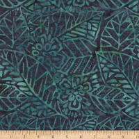 Wilmington Batiks Leaf and Flower Mix Teal/Blue