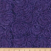 Wilmington Batiks Wavy Fans Purple