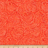 Wilmington Batiks Wavy Fans Orange