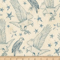Wilmington Land of Liberty Toile Tan/Blue