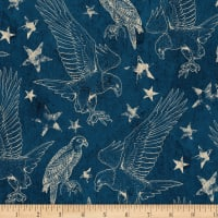 Wilmington Land of Liberty Toile Blue