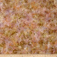 Wilmington Batiks Butterflies Coral/Tan