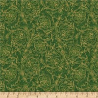 Wilmington Royal Red Scroll Green