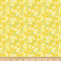Wilmington Amorette Packed Floral Yellow