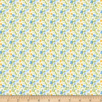 Wilmington Amorette Wildflowers Blue/Yellow