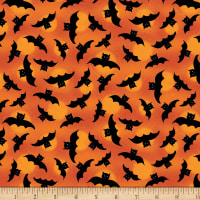 Wilmington Spooky Vibes Bats Allover Orange