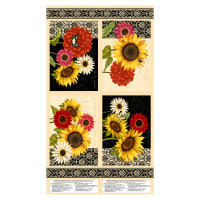 "Wilmington Sunset Blooms Placemat 24"" Panel Multi"