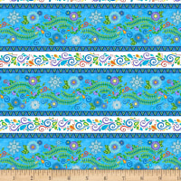 Wilmington Arctic Wonderland Repeating Stripe Multi