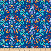 Wilmington Arctic Wonderland Damask Navy