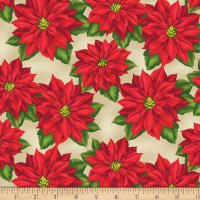 Wilmington Holiday Lane Poinsettia Tan