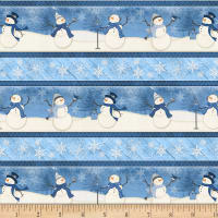 Wilmington Welcome Winter! Repeating Stripe Multi