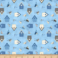 Wilmington Welcome Winter! Birds and Birdhouses Medium Blue
