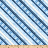 Wilmington Welcome Winter! Ticking Stripe Blue