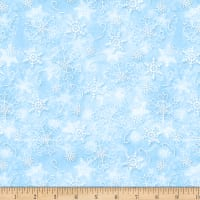 Wilmington Welcome Winter! Snowflakes Light Blue