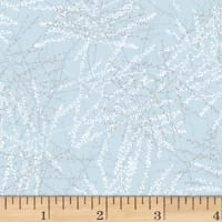 Hoffman Metallic Baby It's Cold Outside Bare Branches Ice Blue/Silver