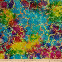 "Hoffman Bali Batik 104"" Wide Back Sunflower Multi"