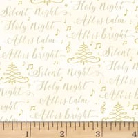 Hoffman Cardinal Carols Silent Night Words Metallic Natural/Gold