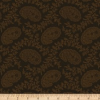 Cinnamon Toast III Small Paisley Brown