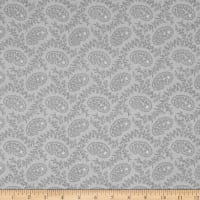 Cream & Sugar VII Small Paisley Gray