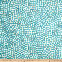Genevieve Gorder Outdoor Puff Dotty Turquoise